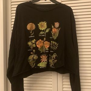 Floral Cropped Graphic Tee